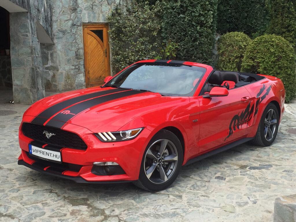 Mustang sportautó bérlés